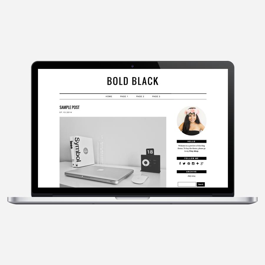 Bold Black WordPress theme