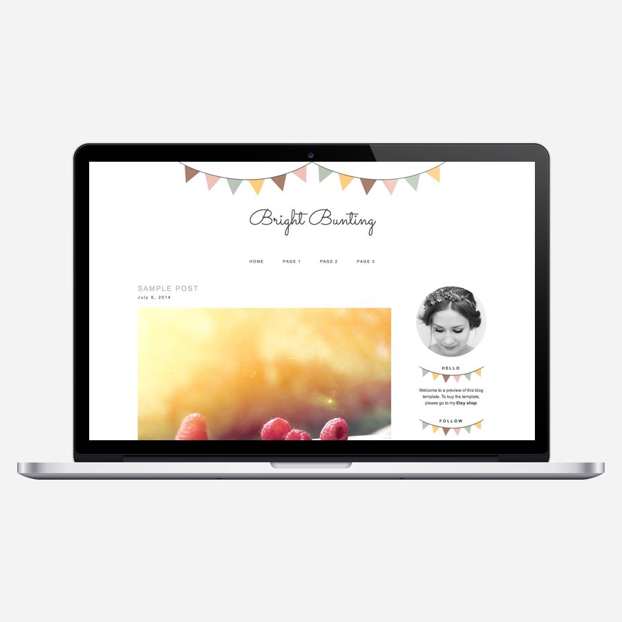 Bright Bunting WordPress theme
