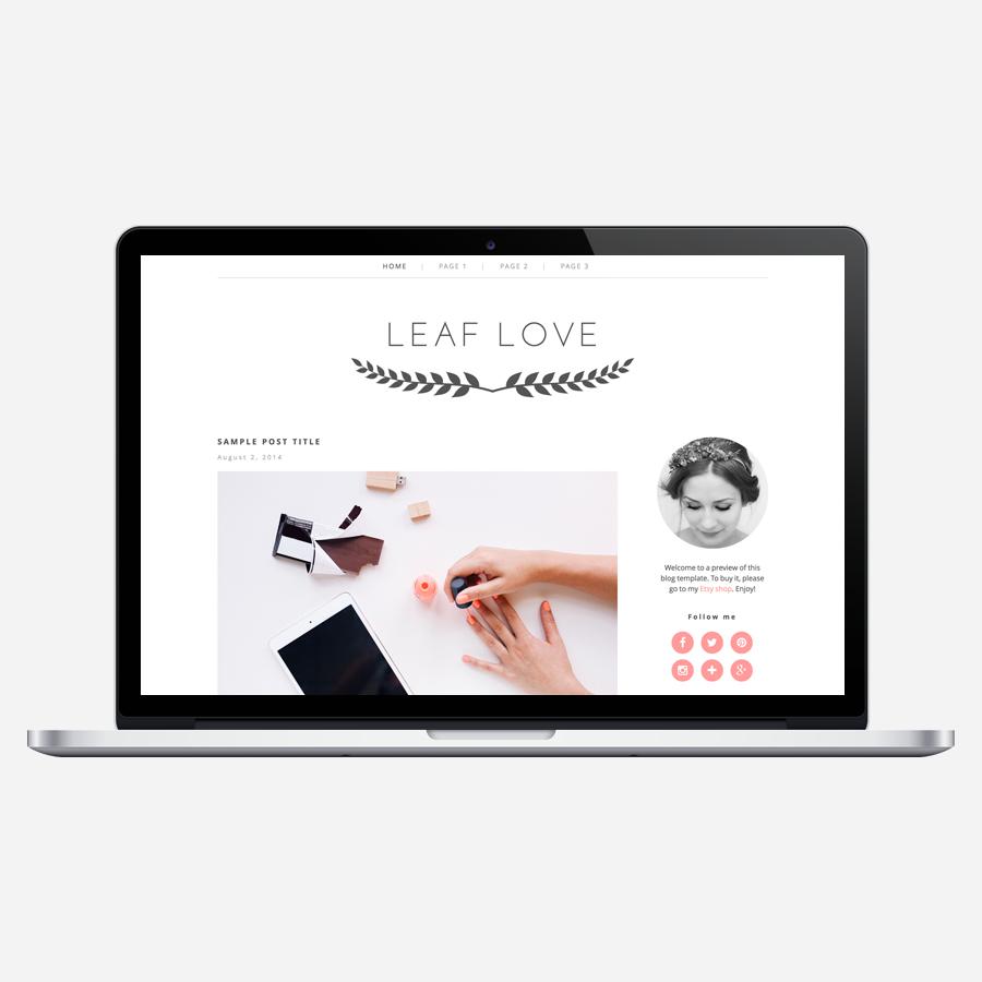 Leaf Love WordPress theme