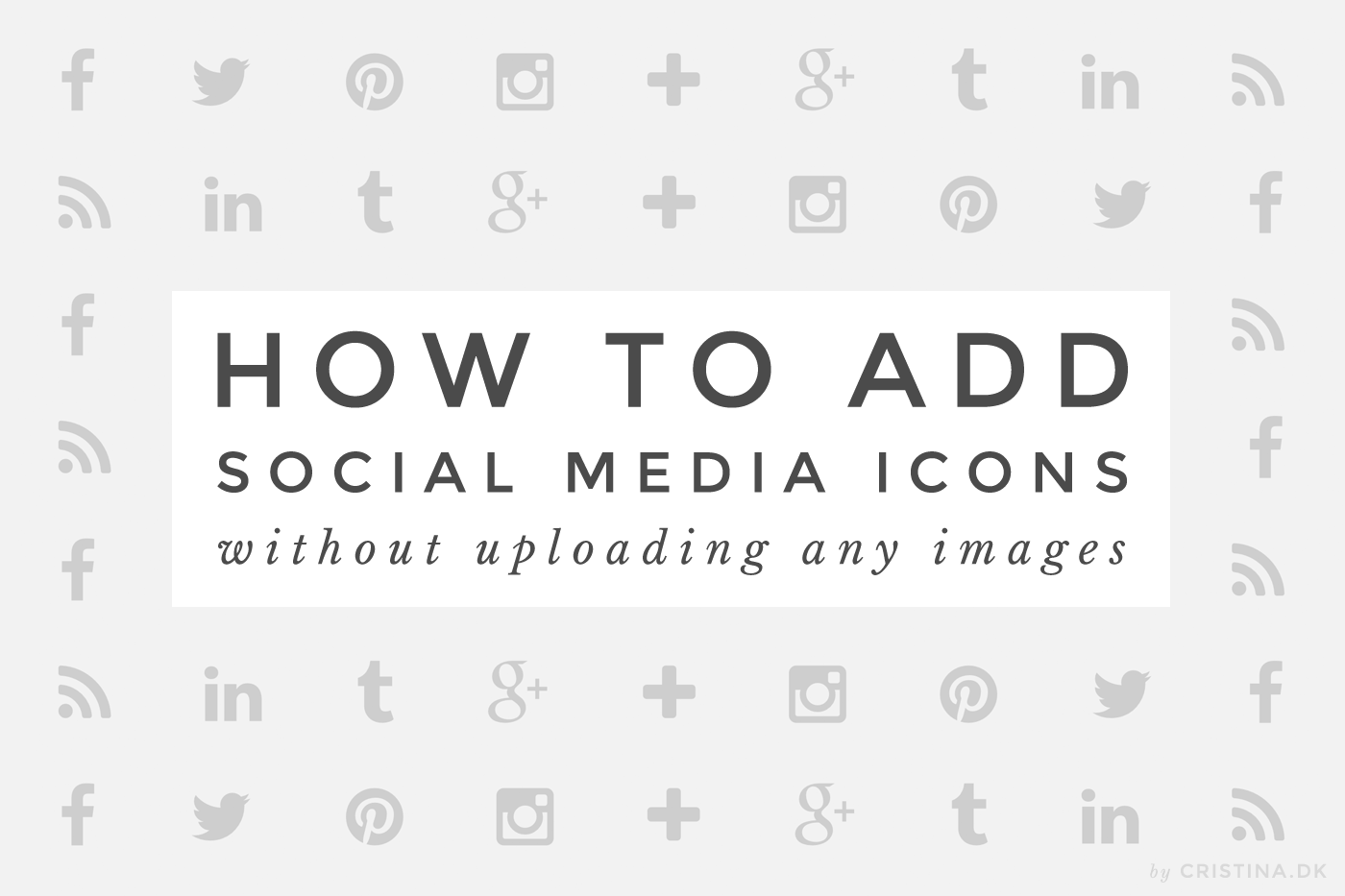 How to add social media buttons without uploading images