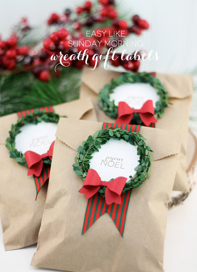 Wreath Gift Labels